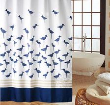 Blue Little Bird Cute POLYESTER 180 x 180 cm Bathroom Use SHOWER CURTAIN... - $23.99