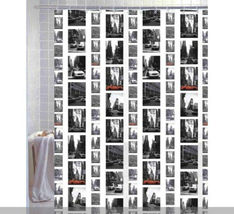 Nyc New York Scenery Vintage Style 180 X 180 Cm Bathroom Use Shower Curtain Set - $29.99