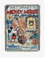 Disney Mickey Mouse Good Deed Tapestry Throw Blanket 48 x 60 - $37.13