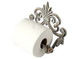 Vintage Toilet Paper Roll Holder Cast Iron Wall Mounted Toilet Tissue Ho... - $24.54