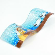Fused Art Glass Christmas Nativity Scene Wavy Décor Sun Catcher Handmade Ecuador image 6
