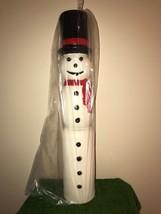 "New Christmas 38"" Drainage Slim Line Lighted Blow Mold Snowman Yard Deco... - $138.59"