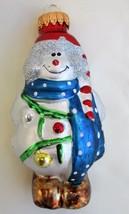G&D Snowman Glass Christmas Ornament EUC - $6.99