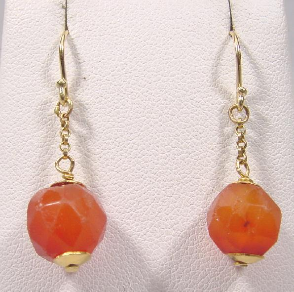 CARNELIAN & GOLD EARRINGS