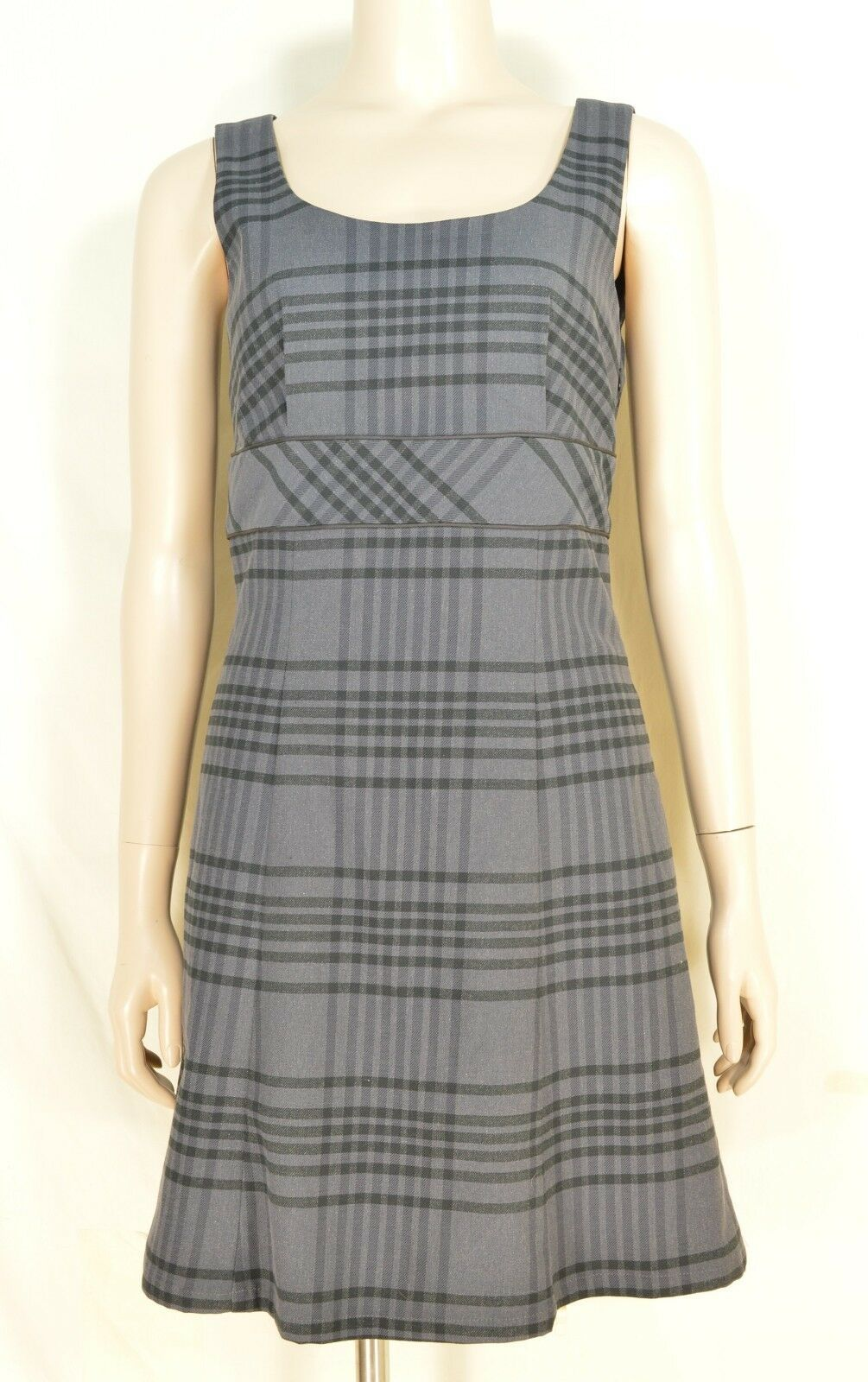 Primary image for Tommy Hilfiger dress SZ 0 NWT gray plaid sleeveless cotton blend