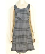 Tommy Hilfiger dress SZ 0 NWT gray plaid sleeveless cotton blend - $39.59