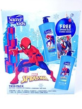 Suave Kids Marvel Spiderman Twin Pack Shampoo Conditioner Body Wash 3in1... - $10.21