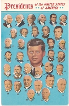 "1960's Error PC ""Presidents of the United States of America""  JFK Was 35... - $8.00"