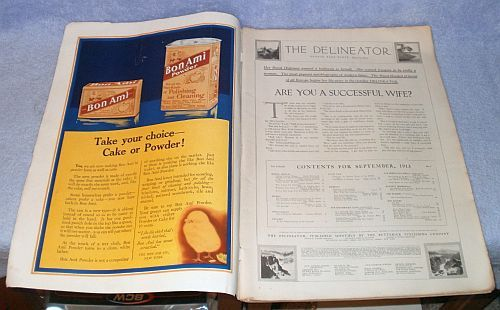 Complete Ladies Delineator Magazine 1913 September Butterick Publishing