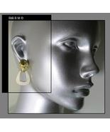 Vintage Signed GOLDETTE Ram Head Goldtone and Enamel Clip Back EARRINGS - $65.00