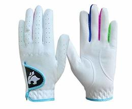 PANDA SUPERSTORE Soft and Comfortable Children Golf Gloves Fibre Cloth White Bot