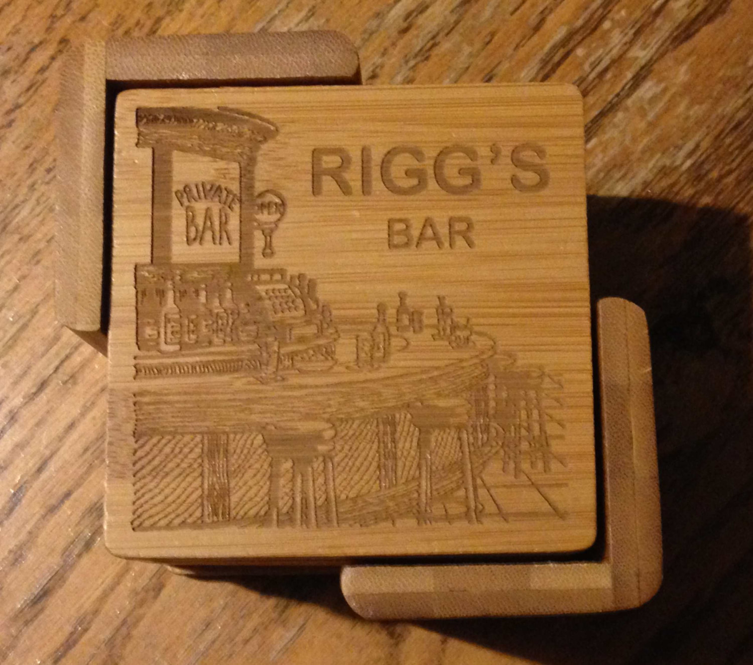 Gifts For Man Cave Bar : Personalized bar coaster set great gift