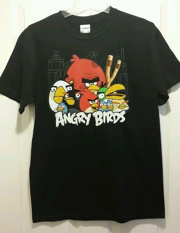 New angry birds nest gang adult medium t shirt video for Adult medium t shirt