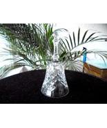 "Hand Cut Crystal Christmas Bell 6"" Tall  Beautiful! - $15.83"