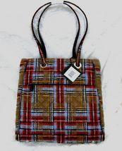 Vera Bradley Three Pocket Tote Patchwork Plaid Bag Zippers Nwt Unused Retired Vera Bradley