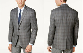 Lauren Ralph Lauren  Classic-Fit Gray Plaid Ultraflex Sport Coat, Size 38 R,$350 - $173.24