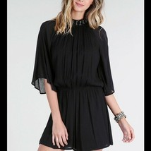 NEW Black Romper With Angel Wings Size Small, Medium or Large - $28.22