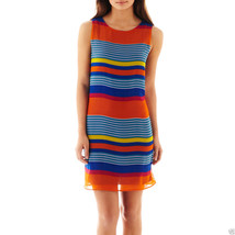 Bisou Bisou Sleeveless Striped Dress Sizes 2, 4, 10, 12, 14, 16 New Msrp... - $21.99