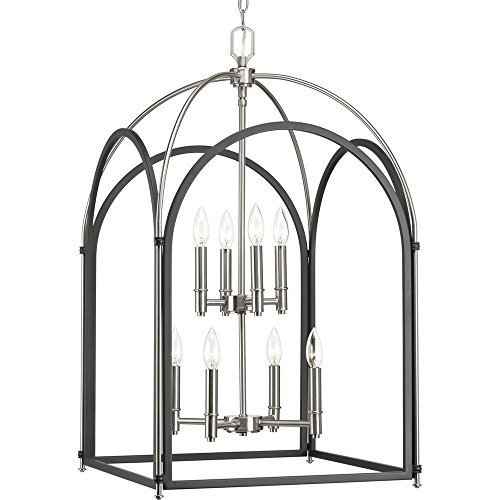 Primary image for Progress Lighting P500040-143 Westfall Eight-Light Foyer, Graphite