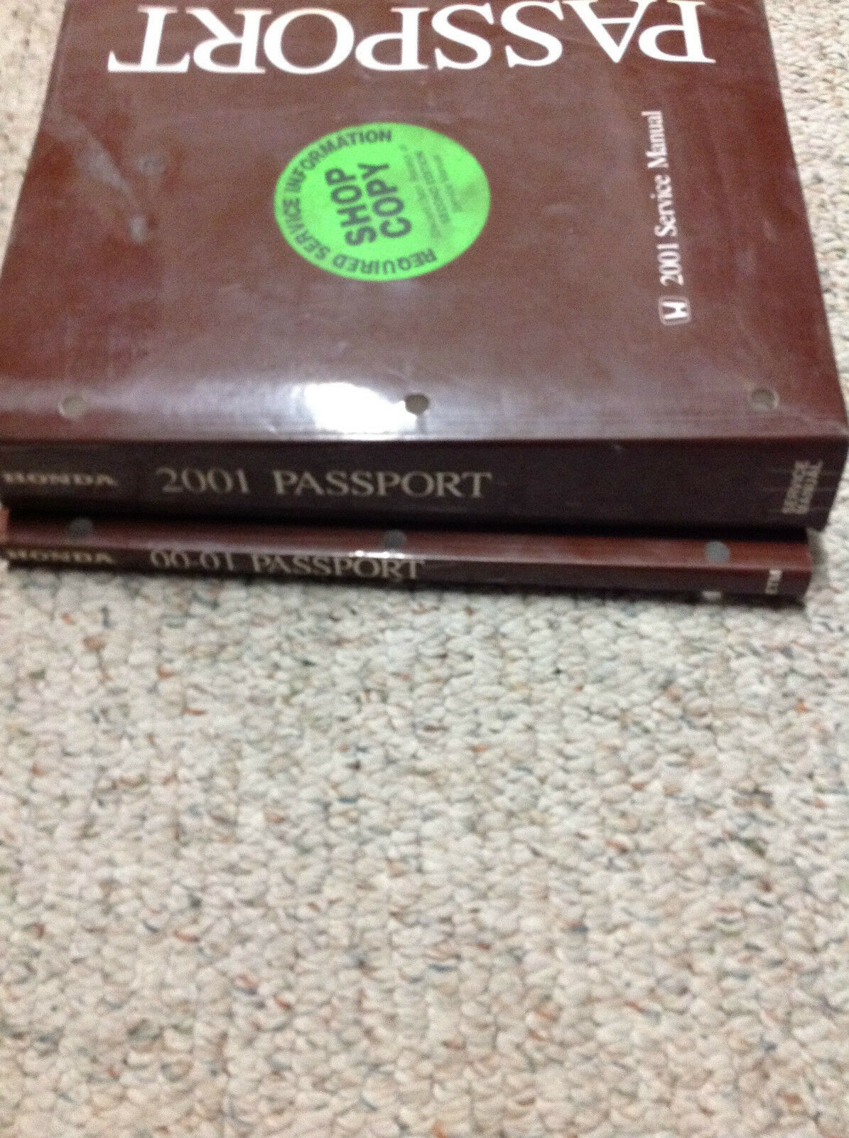 2001 HONDA PASSPORT TODOTERRENO TRUCK Service Repair Shop Workshop Manual Set W
