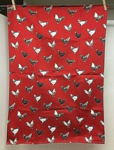 Older Bod Rum Bodrum RED Chicken Rooster Dish Towel 20 x 28 Inch Excelle... - $14.36