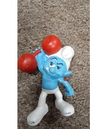 Smurf Mini Collectible Vintage Figurine Weakling Smurf Character 8 Inche... - $19.79