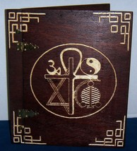 Wooden Handcrafted 6 Symbol Book of Shadows/Journals - $77.23