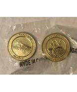 Alaska Frontier Mint Metal Coins Railroad Angler Souvenir Coins Lot 2 Br... - $14.99