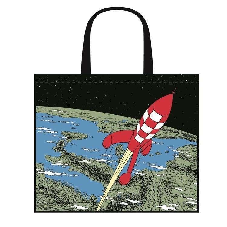 Tintin Destination Moon tote bag Semi Waterproof