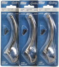3 National Hardware Makers Gallery Garment Hook Set Pewter Finish V1964 ... - $21.99