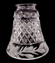 Lead Crystal Light Shade Floral Bell 2 1/4 in Ceiling Fan Chandelier Wall Sconce - $19.95