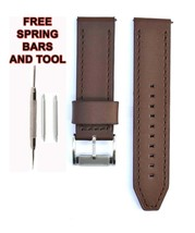 Fossil JR1487 24mm Brown Leather Watch Strap Band FSL114 - $28.71
