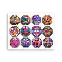 Zodiac Canvas Art Print, Canvas Wall Art Decor, Zodiac Gifts - $89.09+