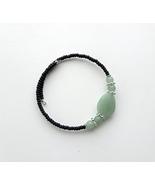 light green aventurine simple bracelet memory wire. - $24.50