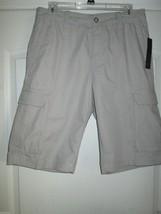 APT.9 Solid Poplin Cargo Men' Shorts Drizzle, Khaki 30 MSRP $48.00 - $16.71