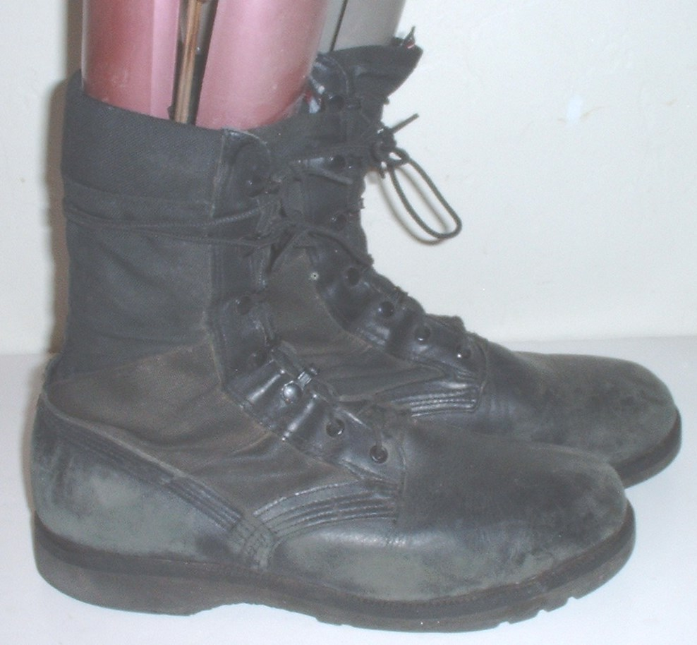 Altama black nylon & leather hot-weather boots 11 Narrow; Vibram sole