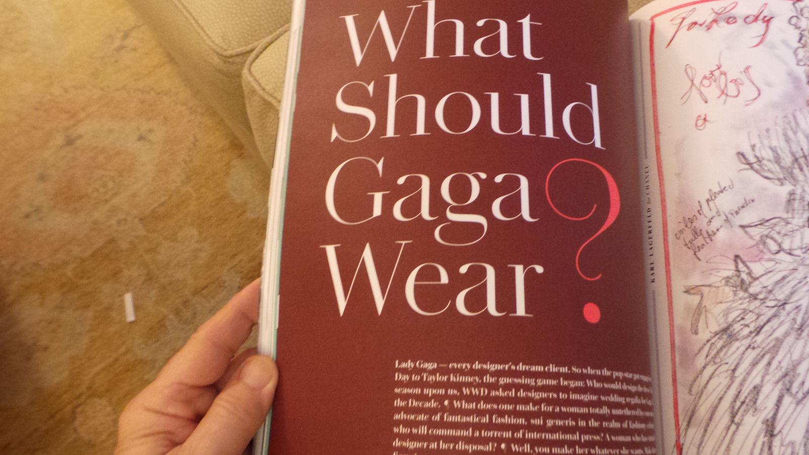 WWD Mag Lady Gaga Wedding Dresses; Salma Hayek; Rob Lowe; Tom Tait 5/2015 #3 NF