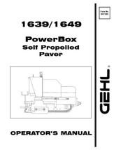 GEHL 1639 1649 Powerbox Paver Operators Owners Manual 907389 1997 Bound ... - $28.89