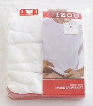 IZOD White Cotton Crew Neck Tee Shirt 3 in Package New in Package Men's  - $18.74