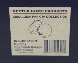Better Home Products 61315SN Dummy Egg Knob Design Satin Nickel image 7