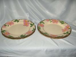 4 Vintage Dinner Plates Franciscan China Stoneware Desert Rose England NICE - $74.25