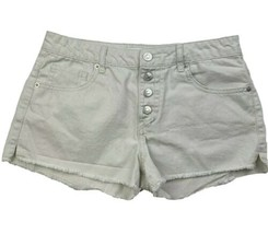 Forever 21 Shorts Size 27 Womens Fly Button Distressed Cutoff Booty - $12.73