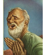 "Guy Rowe. ""Abraham"". Vintage 1949 Religious Biblical Lithograph Print. 9X12 - $12.00"