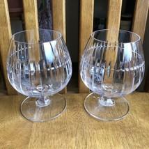ATLANTIS Vertical Cut Crystal Brandy Snifter Goblets Glasses Set Of 4 Si... - $49.50