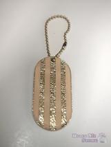 Chanel Bag Charm Key Chain Hanging accessories pink glitter stripe charm - $45.00