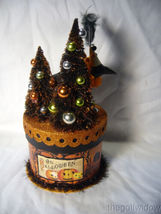 Bethany Lowe Halloween Party Crow on Box Container  image 3