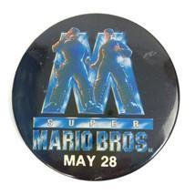 Vintage 1993 Super Mario Brothers Nintendo Video Game Gaming Pinback But... - $9.46