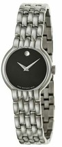 NWT Movado Classic Swiss Black Dial Silver Tone Steel Women's Watch 0606... - $299.99