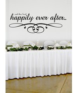 "Happily Ever After Wedding Wall Decor Vinyl Sticker Decal 11""h x 30""w - $29.99"