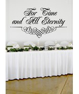 "For Time and All Eternity Wedding Wall Decor Vinyl Sticker Decal 22""h x ... - $39.99"